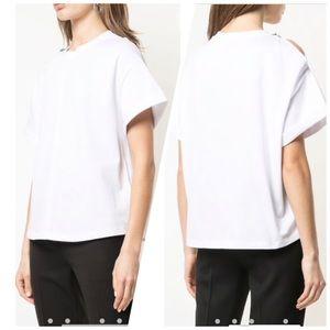 3.1 PHILLIP LIM- Oversized T-Shirt Shoulder Slit